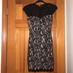 Black lace and sequin dress